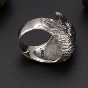 Men's Sterling Silver Eagle Head Ring