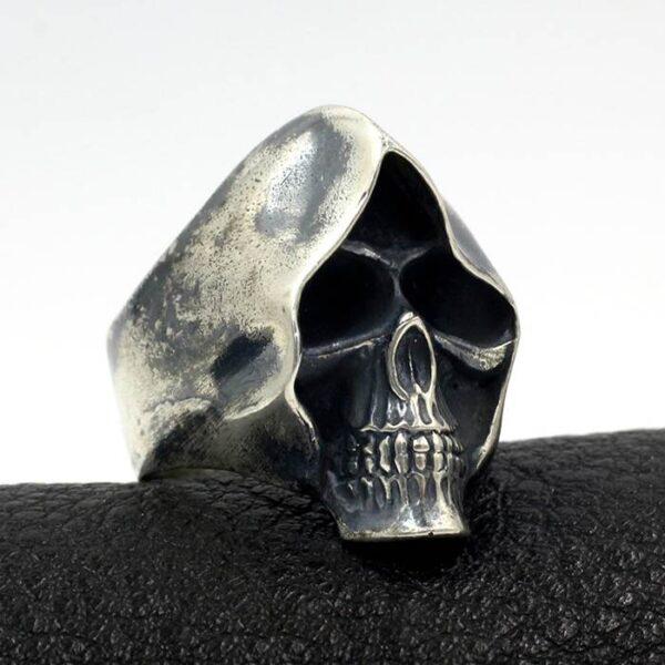 Men's Sterling Silver Grim Reaper Skull Ring