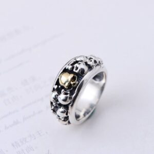 Men's Sterling Silver Phantom Skull Ring