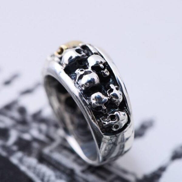 Men's Sterling Silver Phantom Skull Ring