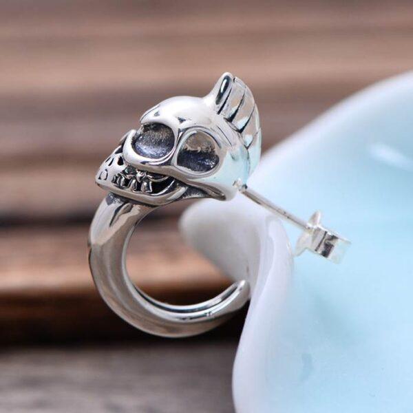 Men's Sterling Silver Skull Earrings