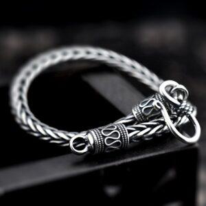 Mens Sterling Silver Wheat Chain Bracelet