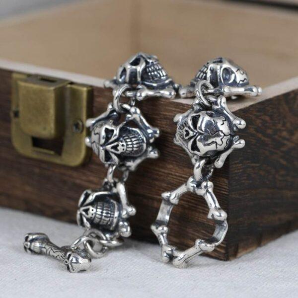 Silver Skull Bracelet