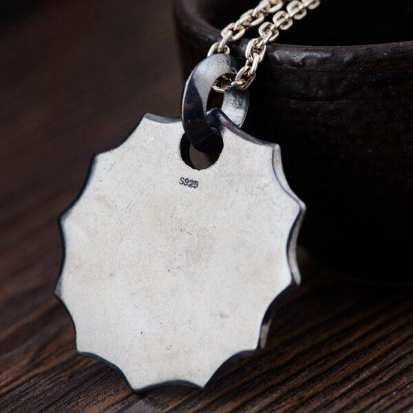 Sterling Silver Skull Crossed Swords Pendant Necklace