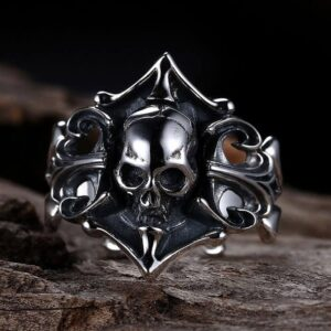 Sterling Silver Vintage Gothic Skull Ring