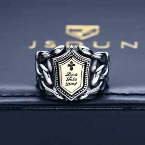 Born To Be Loved Shield Ring