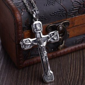 Crucifix Cross Pendant Necklace