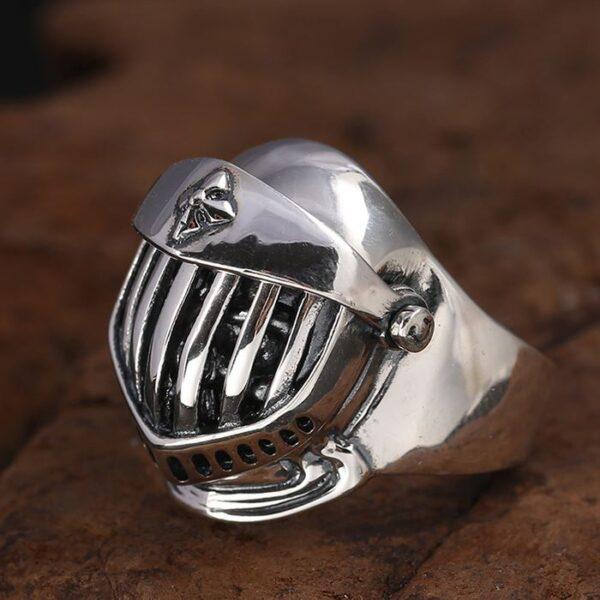 Knight Helmet Skull Ring
