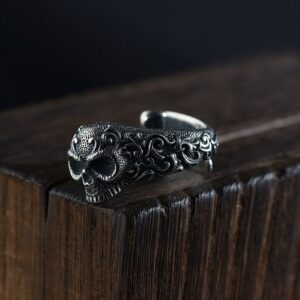 Sterling Silver Evil Ways Skull Ring