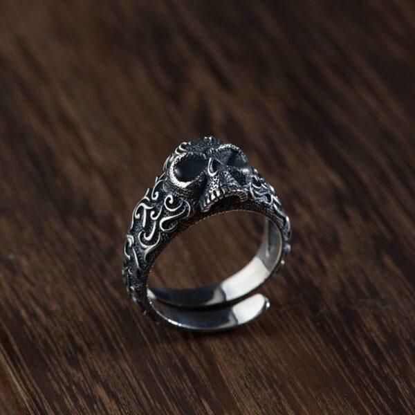 Sterling Silver Evil Ways Skull Ring