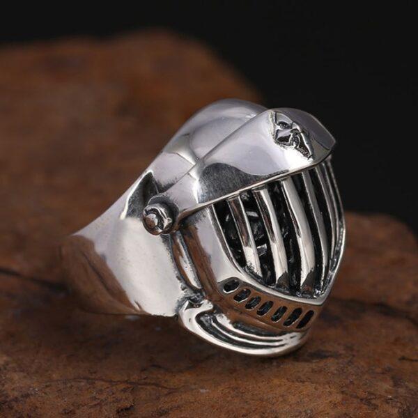 Sterling Silver Helmet Skull Ring