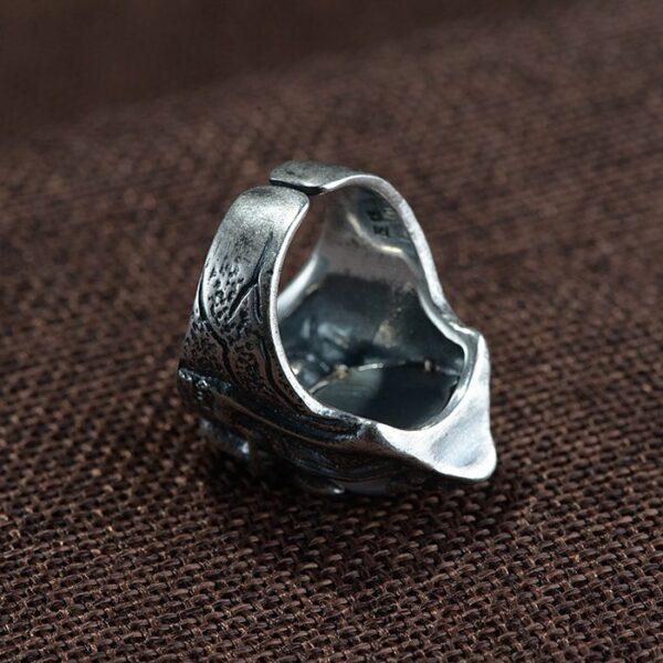 Sterling Silver Skull Eyeball Ring
