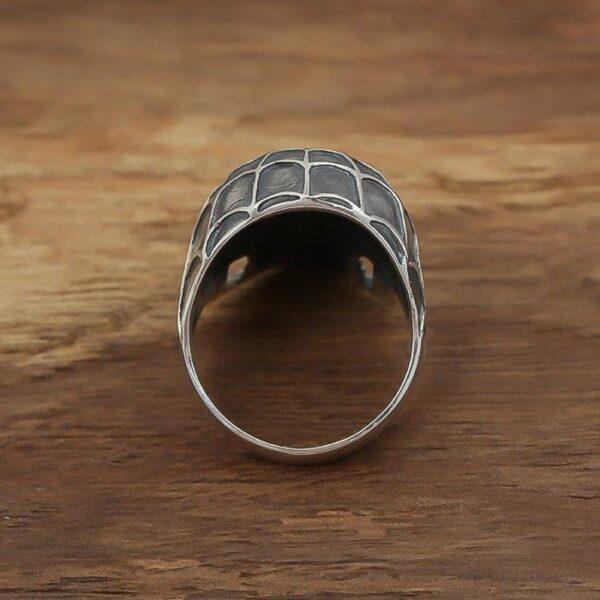 Men's Sterling Silver Spiderman Skull Ring