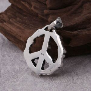 Peace Symbol Skull Pendant