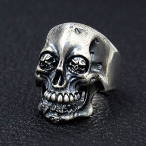 Silver King Of Skull Ring