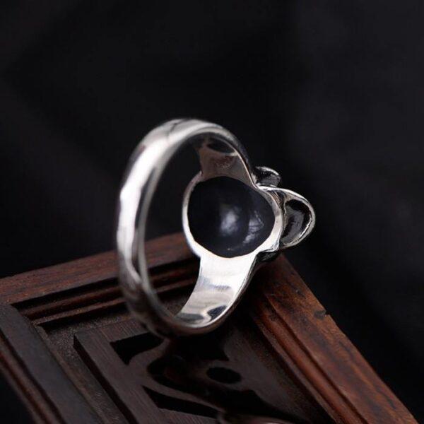 Sterling Silver Delicate Skull Ring