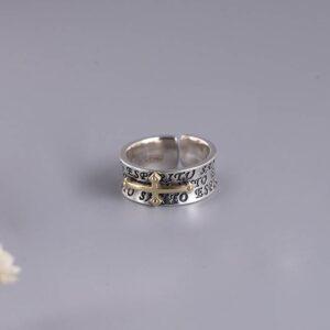 Cross Cuff Ring