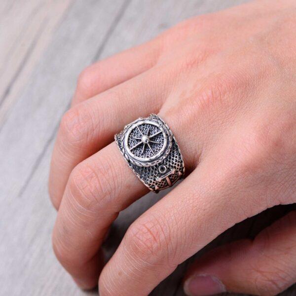 Sterling Silver Anchor Polaris Ring