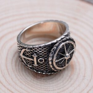 Sterling Silver Anchor Polaris Ring