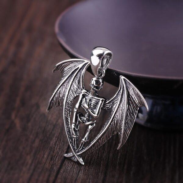 Bat Skeleton Pandant Necklace