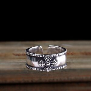 Sterling Silver Cross Cuff Ring