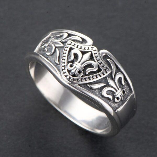 Sterling Silver Delicate Fleur De Lis Ring