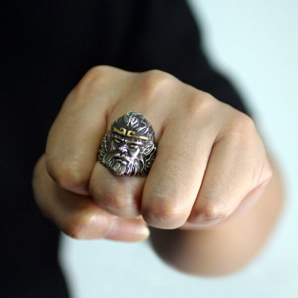 Sterling Silver King Of Monkey Ring