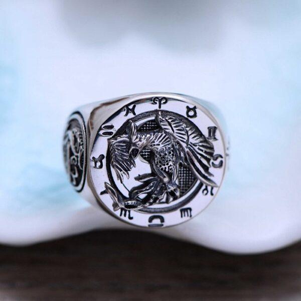 Sterling Silver Suzaku Ring