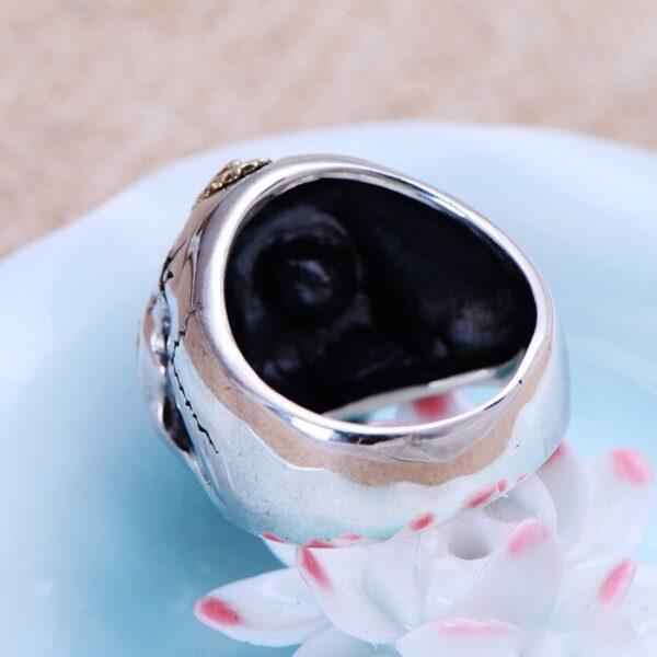 Men's Sterling Silver Virgin Mary Skull Ring