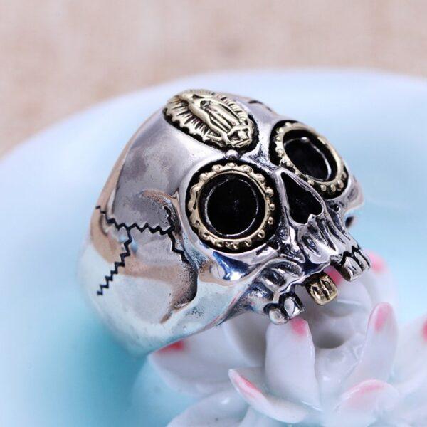 Sterling Silver Virgin Mary Skull Ring