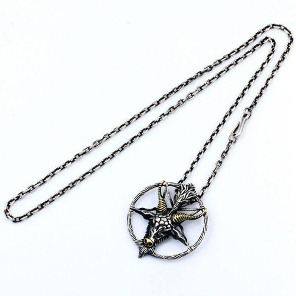 Satan Baphomet Pendant Necklace