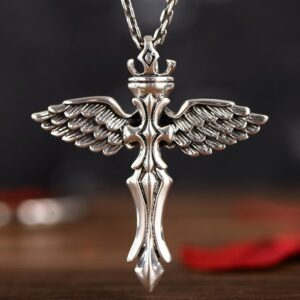 Sterling Silver Angel Wings Pendant Necklace