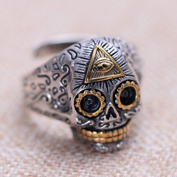 Eye Of Providence Skull Ring