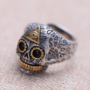 Sterling Silver Eye Of Providence Skull Ring
