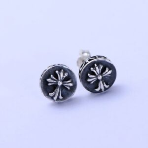 Sterling Silver Fleur De Lis Post Earrings