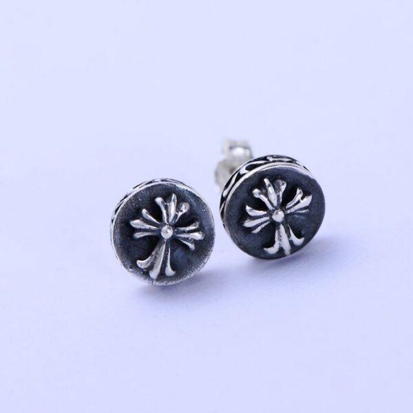 Sterling Silver Fleur De Lis Post Earrings