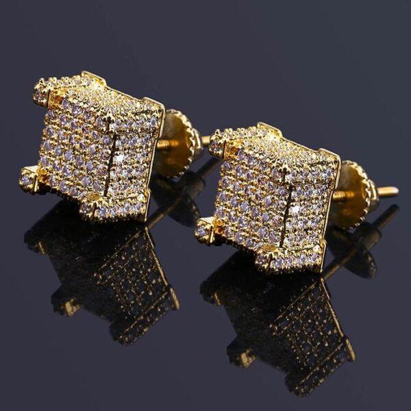 Men's Hiphop Diamond Accent Stud Earrings