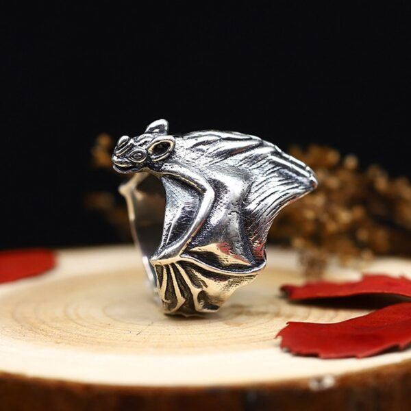 Sterling Silver Cool Bat Wrap Ring