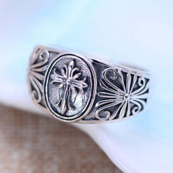 Sterling Silver Cross Wrap Ring