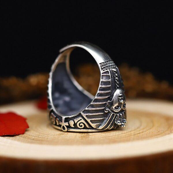 Horus & Anubis Hobo Nickel Ring