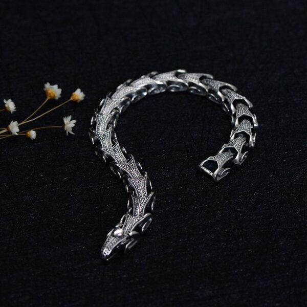 Silver Sheep Head Beaded Bracelet