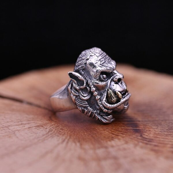 Sterling Silver Warcraft Orc Ring