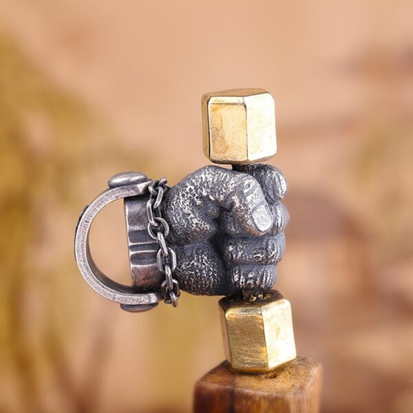 Sterling Silver Weightlifting Fist Pendant