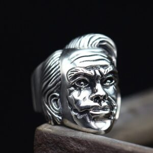 Sterling Silver The Dark Knight Joker Ring