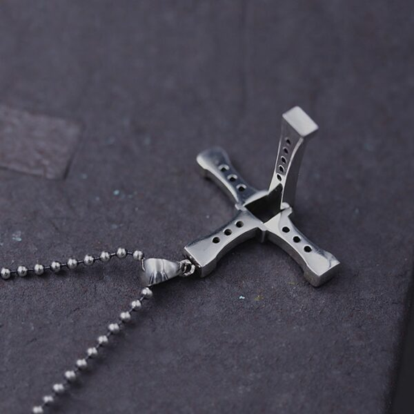 Sterling Silver Fast & Furious 8 Cross Necklace