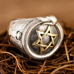 Men's Sterling Silver Mogen David Ring