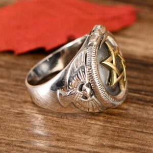 Sterling Silver Mogen David Ring