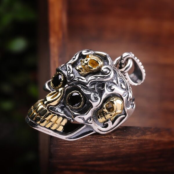 Men's Sterling Silver Sugar Skull Pendant