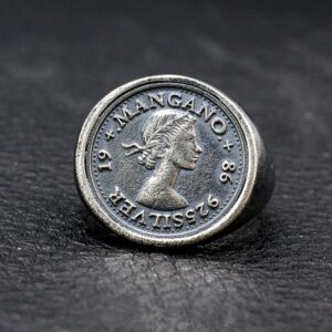 Sterling Silver Queen Elizabeth II Portrait Coin Ring