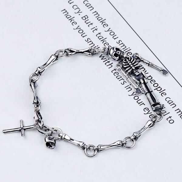 Skeleton Bones Cross Bracelet